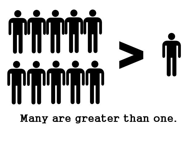 many greater than one