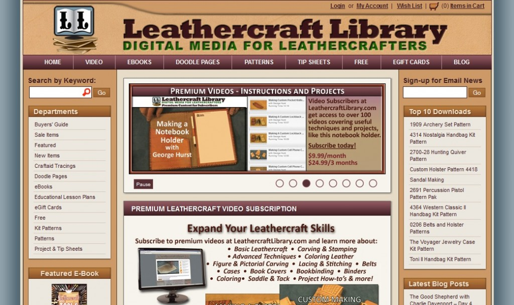 tandy leathercraft library