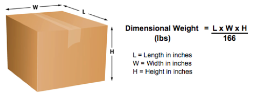 dimensional weight shipping formula