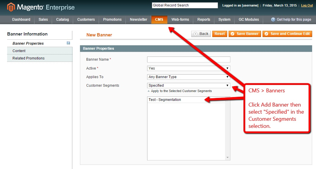Magento Enterprise Customer Segmentation Step 4