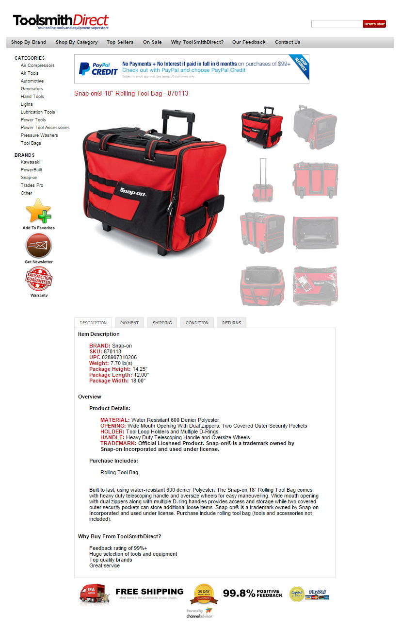 toolsmithdirect ebay listing template