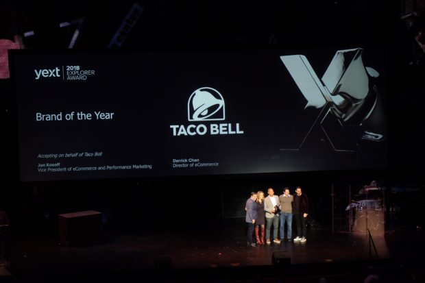 ONWARD 2018 Taco Bell Brand Award