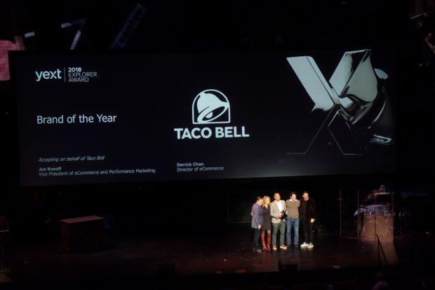 ONWARD 2018 Taco Bell Brand Award