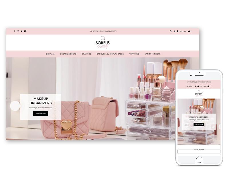 sorbus beauty ecomsultant shopify portfolio