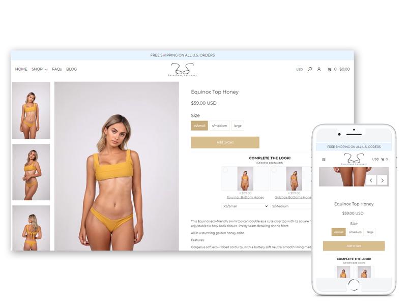 seven seas swimwear ecomsultant shopify portfolio
